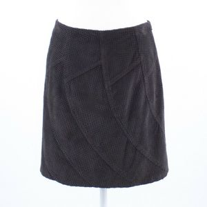 Charcoal gray 100% cotton ETCETERA A-line skirt 8
